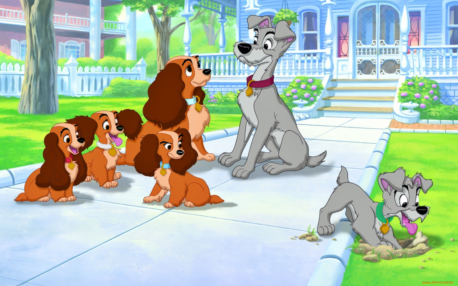 Картинки собак из мультфильмов детских